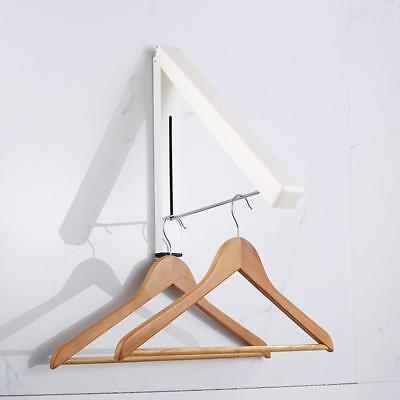 Magic Fold-Away Coat Hanger Wall Mounted Clothes Hanging Rail System Dry Rack]s