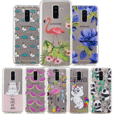 Patterned Ultra Thin Clear Slim Soft Gel Rubber Case Cover For Samsung Galaxy J6