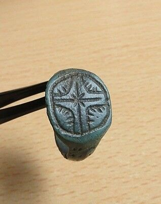 "Medieval Knight's Templar Era Bronze Ring 13th-15th century AD.""CROSS""- Wearable"
