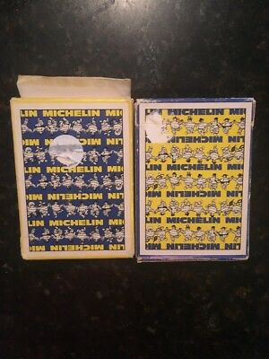 MICHELIN TIRES TYRES Advertising Playing Cards Bibendum Man- 2 Opened Decks