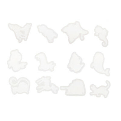 12x Animal Shape Cabochon Silicone Mold Epoxy Resin Jewelry Crafts Mould DIY