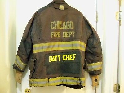 Chicago Fire Dept BATT CHIEF -  Turnout / Bunker Coat (LION APPAREL)