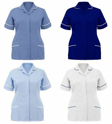 Womens Nurses Healthcare Tunic Uniform Hospitality House Maid Nurse Work Wear