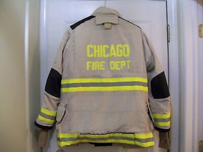 Chicago Fire Dept  WHITE CHIEF -  Turnout / Bunker Coat (LION APPAREL)