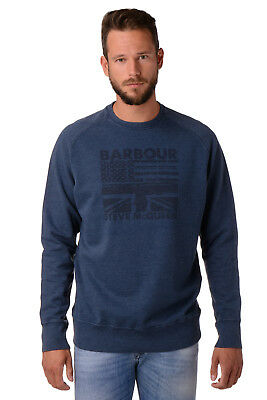 Barbour International STEVE McQUEEN Sweatshirt Size XL Garment Dye Worn Look