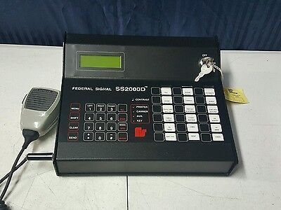 Federal signal controller  SS2000D Rs232 console pa system intercome