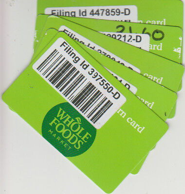 $108.84 ON 5 Whole Foods Market Gift Cards - $105.85 | PicClick