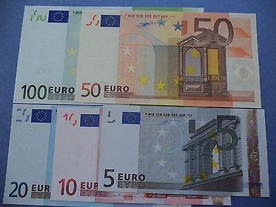 Portugal  Set  5  Notes  Euros  ( M )  2002   Ch.unc    [ Very Higth Grade ]