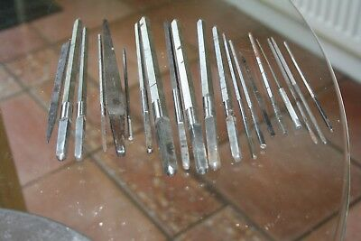 36 and 6 handles Clock makers Reamers or broaches for refinishing bushes