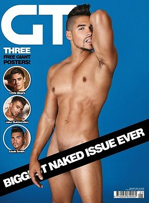 Gay Times 441 Jan 2015 Free Poster - Chris Mears, Louis Smith, Jake Quickenden,