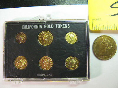 Six Fantasy Issue California Gold Coins In Holder & A $5?? Coin,