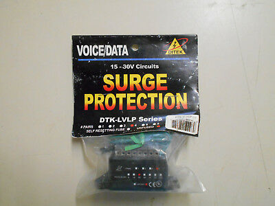 Ditek DTK4LVLP Surge Protection Unfused For Ptz Dome Data 4 pairs 15-30 volts