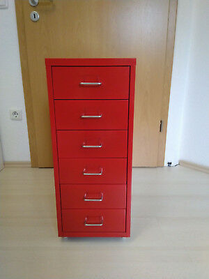 IKEA Rollcontainer HELMER in rot
