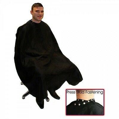 Hair Tools Black DELUXE Barber Hairdressing Gown With Poppers SAMEDAY DISPATCH