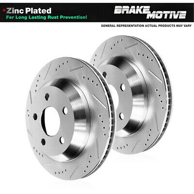 REAR DRILLED AND SLOTTED BRAKE Rotors For 2005 - 2013 Chevy Corvette Z51 C6