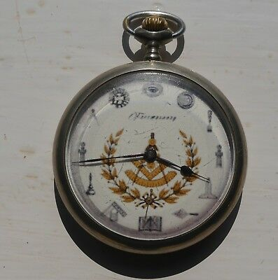 Vintage 15 Jewel, Symbolic Masonic Pocket Watch Manual Wind