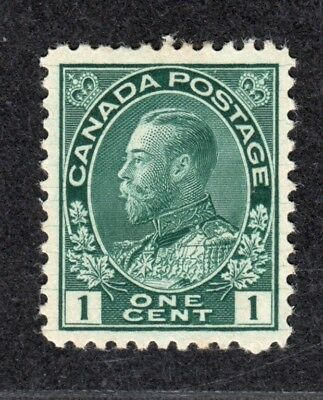 Canada 1c Green Admiral Scott #104 VF MLH with hairlines