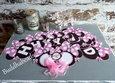 Girlande - Happy Birthday - Minnie Mouse - Wimpelkette