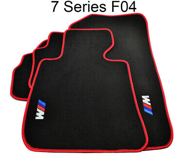 BMW 7 Series F04 Black Floor Mats Red Rounds With ///M Logo LHD Exclusive NEW