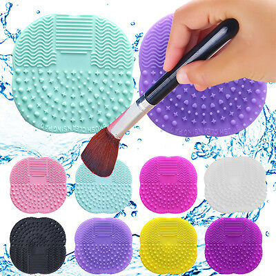 Silicone Maquillage Pinceaux Nettoyant Coussin Vaisselle Ponceuse Plaque Tapis