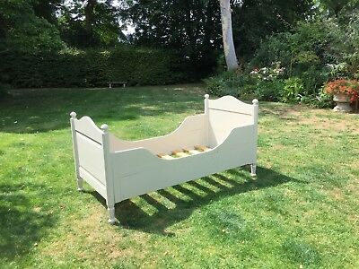 Early 20th century antique painted cabin bed
