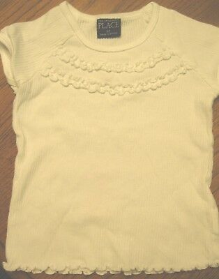 Size 3T Girl's White Sweater Top Pullover From The Children's Place 100% Cotton