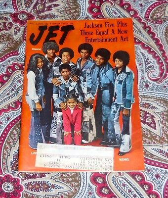Jet Magazine - Aug 1, 1974 - Jackson 5 - Michael, Janet, Randy - Look!