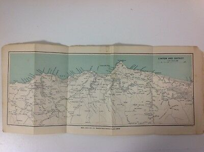 Lynton And District, 1920,  Vintage Map,  Atlas