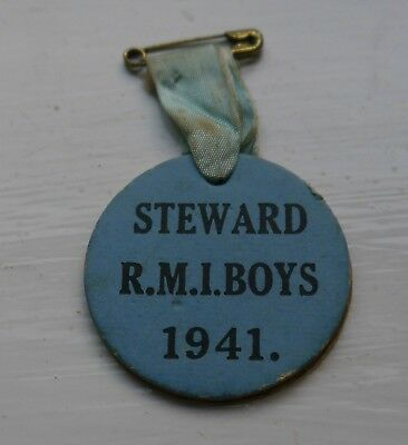 Scarce Cardboard 1941 Royal Masonic Institution For Boys Stewards Jewel Rmib