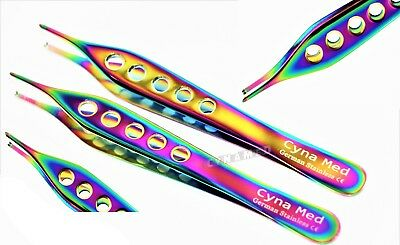 """2 Adson Tissue Forceps 4.75"""" 1X2 Rat Tooth Configuration Surgical Dental Vet."""