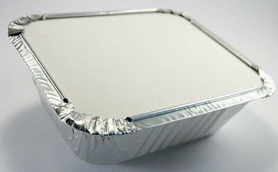 No2 ALUMINIUM FOIL FOOD CONTAINERS + LIDS PERFECT FOR STORAGE HOME AND TAKEAWAY