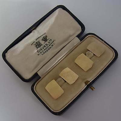 Antique 9Ct Solid Gold Cufflinks (5.2 Grammes) In Original Case