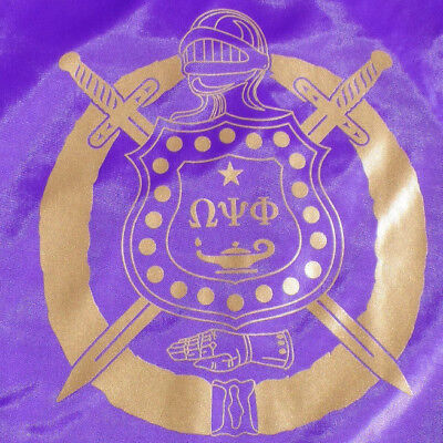 Omega Psi Phi String Backpack: Purple and Gold pack/bag!
