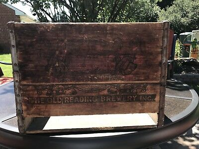 Old Reading Wooden Beer Crate