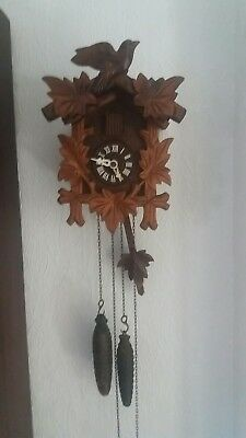 vintage german cuckoo clock,black forest cuckoo clock,Small size,spares repairs