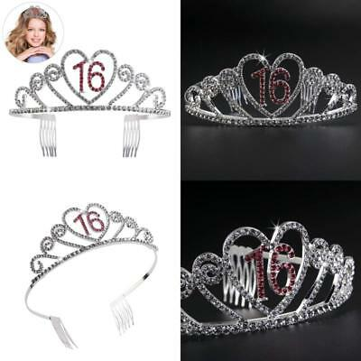 Birthday Party Rhinestone Crystal Tiara Crown Sweet 16 Notax Free Shipping Us