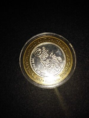 Limited Edition Ten Dollar Gaming Token 999 Las Vegas The Orleans Alligator Horn
