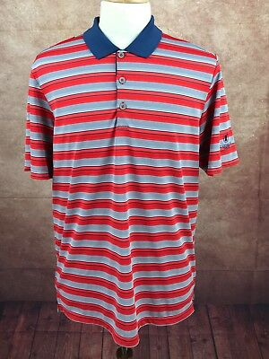 Adidas Golf Climacool The Governors Club Tennessee Red Blue Stripe Shirt Men's L