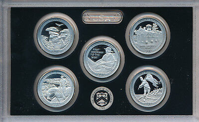 2016-S American The Beautiful 5 Silver Proof Quarter Set **with Mint Box & Coa**