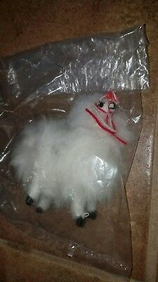 "Handcrafted New Mini Llama Alpaca Figure Real Fur 4.5"" Beautiful"