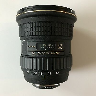 Tokina 12-24mm F4 AT-X Pro Wide Angle DX Lens For Nikon Used Ex Cond FREE Ship!