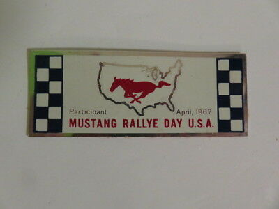 Ford Mustang-1967 Dash Plate Plaque-Mustang Rally Day Participant Road Racing!!!