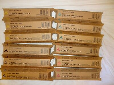 Ricoh sp C430A toner 821105 821106 821107 821108 3 FULL SETS OEM NIB