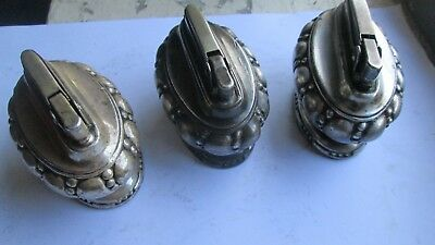 """Lot of 3 Vintage Ronson """"Crown"""" Table Lighters. Tested Working"""