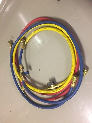 Rothenberger 1/4'' Charging AC Hoses With Ball Valves . Air conditioning tools.