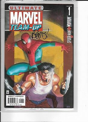 Ultimate Marvel Team-Up #1 Signed by Brian Bendis!