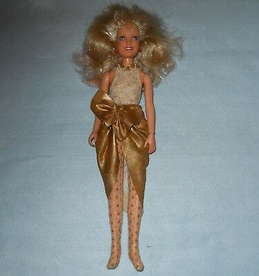Vintage Doll Jem and the Holograms Jerrica Glitter and Gold Hasbro #4001 1987