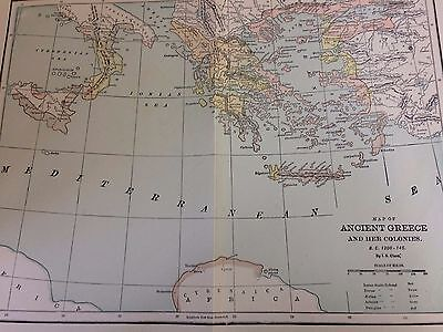 (2) Antique Maps, Ancient Greece and Colonies/Athens, Printed 1898