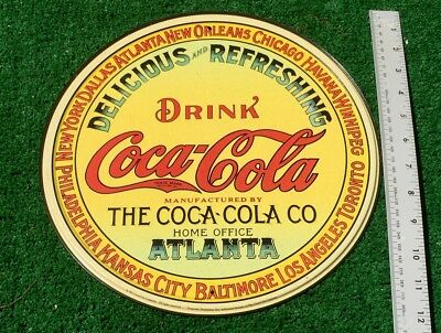 CLASSIC COCA-COLA DELICIOUS & REFRESHING ROUND Tin METAL SIGN