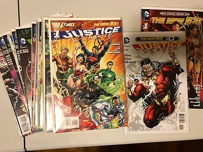 Dc New 52 Justice League 1-21+0 #1 Signed By Johns And Lee!